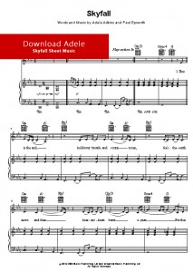 skyfall, sheet music, music notes, piano, download, how to play on piano, learn to play