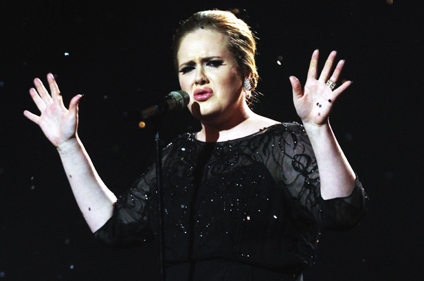 adele performing live, hall, concert, music