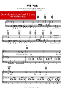 mumford, sons, sheet, music, piano, notes, music